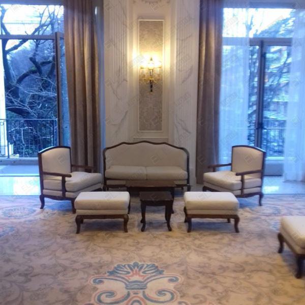 poltrona + divano + pouf DIAMANTE AVORIO