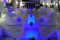 Ambientazione per Eventi : Sedute ed Elementi lumininosi
