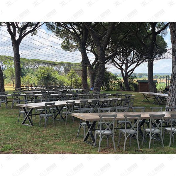 ARAGON tavolo con sedia Cross