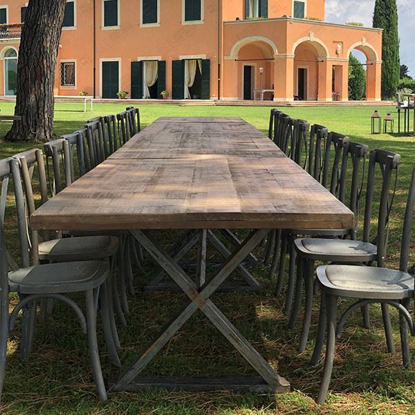 sedia cross e tavolo aragon