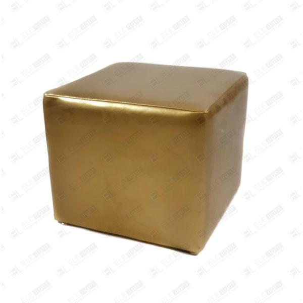 pouf cubo oro