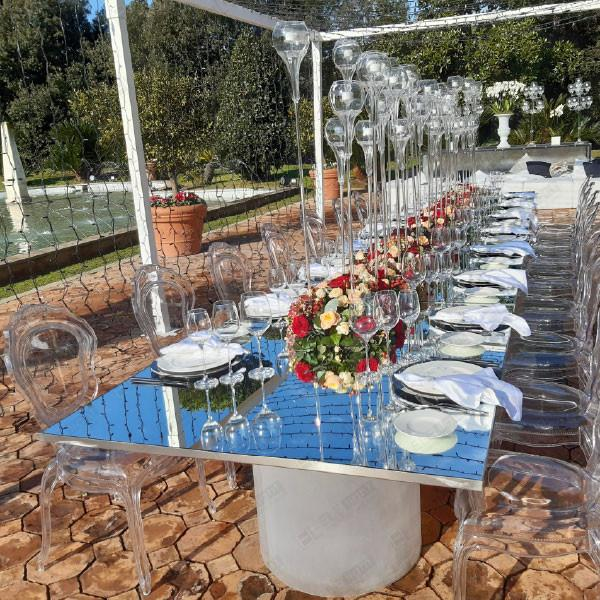 Tavolo rettangolare specchiato Daylight