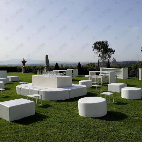 HOUSTON ISOLA + POUF TONDO + POUF 80