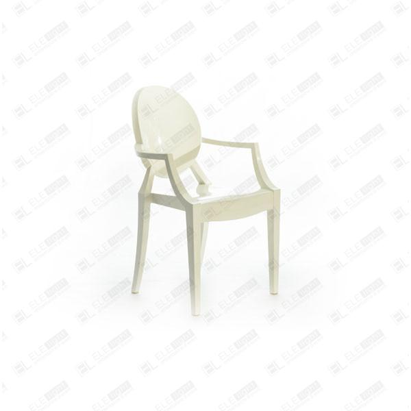 Louis Ghost White: Transparent Polycarbonate Chair | ELE light
