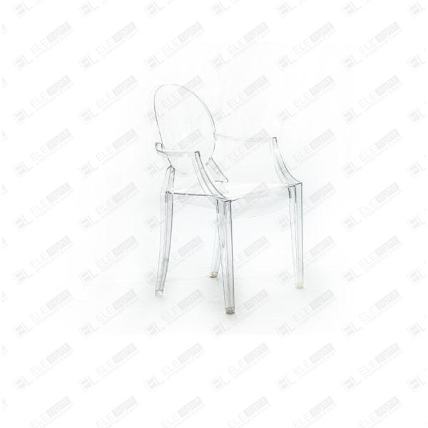 Louis Ghost Transparent: Transparent Polycarbonate Chair | ELE light
