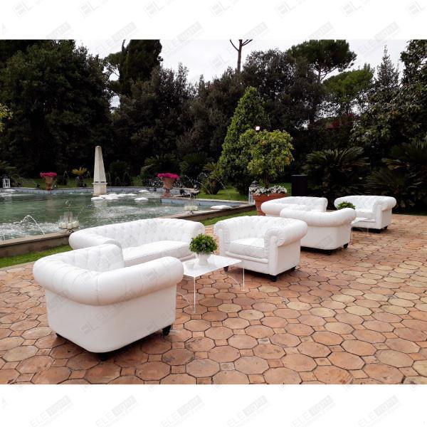MONACO divano + poltrona + OSAKA tavolo