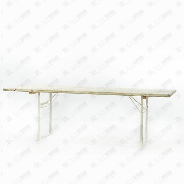 Motegi: Tavolo rettangolare con top in legno e cavalletti in ferro ...