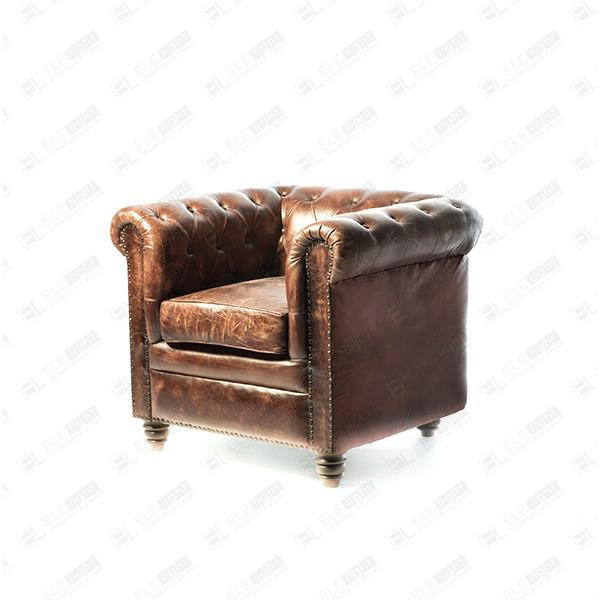 Poltrone Chesterfield Vintage.Chester Vintage Chesterfield Armchair Ele Light