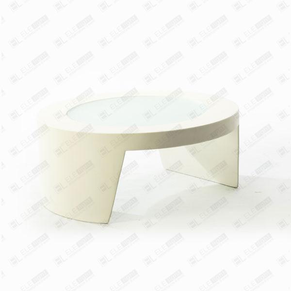 Tavolo Design Bianco.Tao White Round Table Rental Polyethylene Tables Ele Light