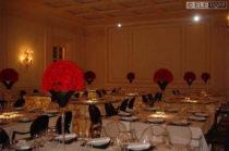 Tavoli Quadrati con Louis Ghost nere e trasparenti