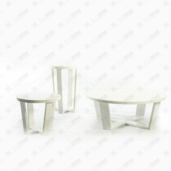 Venere: Tavolo tondo in MDF laccato lucido bianco | ELE light
