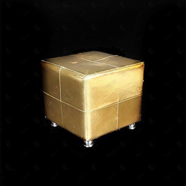 pouf cubo gold