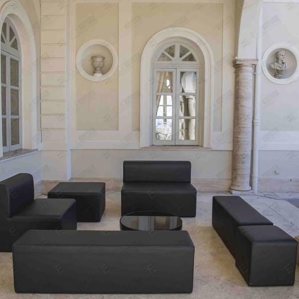 POUF HOUSTON 45X45 NERO