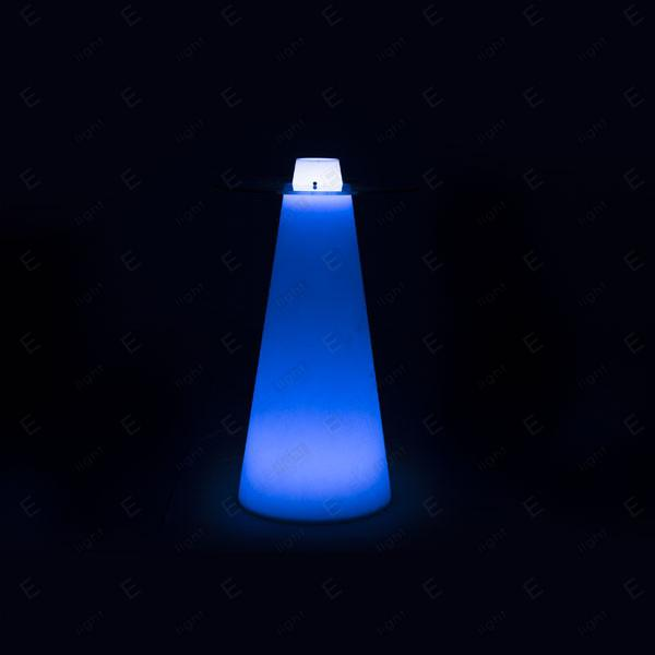 NOLEGGIO TAVOLO BISTROT TONDO LUMINOSO LED RGB PEAK 120