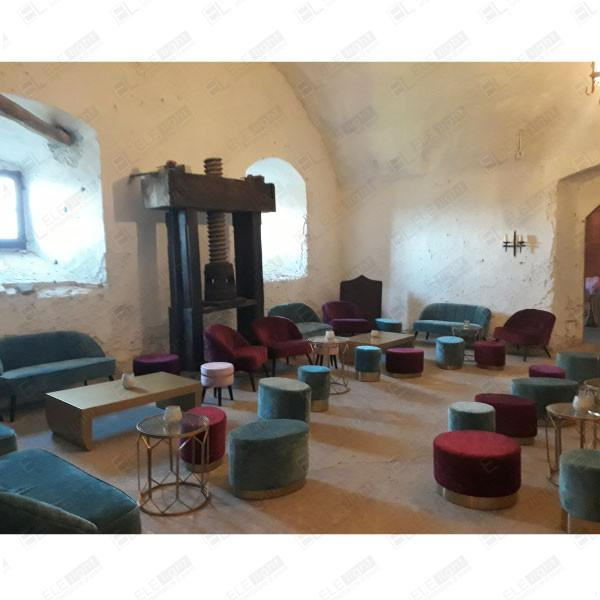 PARISPARIS pouf smeraldo e bordeaux - tavolino - poltrona e divano