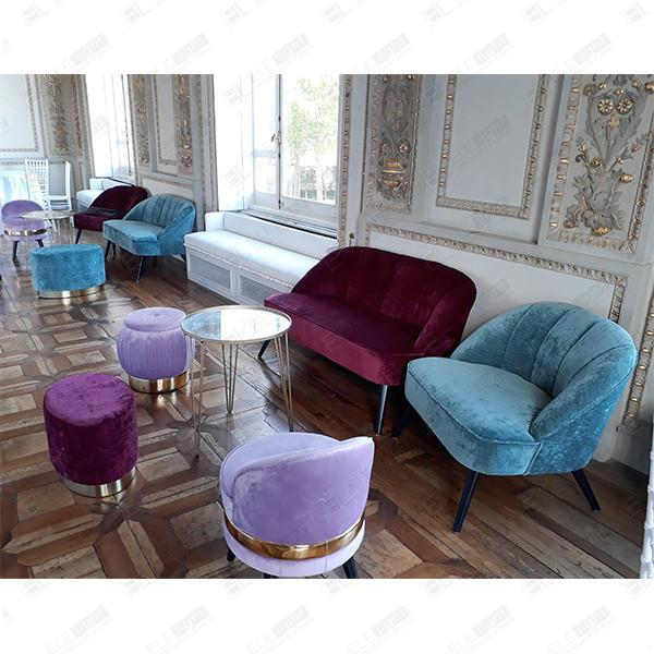 Poltrone E Sofa Montesilvano.Bordeaux Paris Sofa Velvet Two Seats Sofa Ele Light