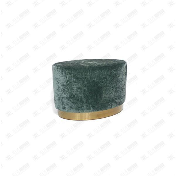 pouf ovale verde smeraldo