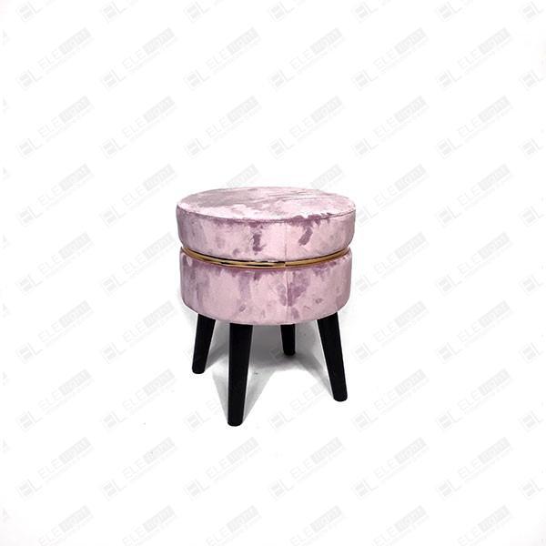 sgabello rosa in velluto