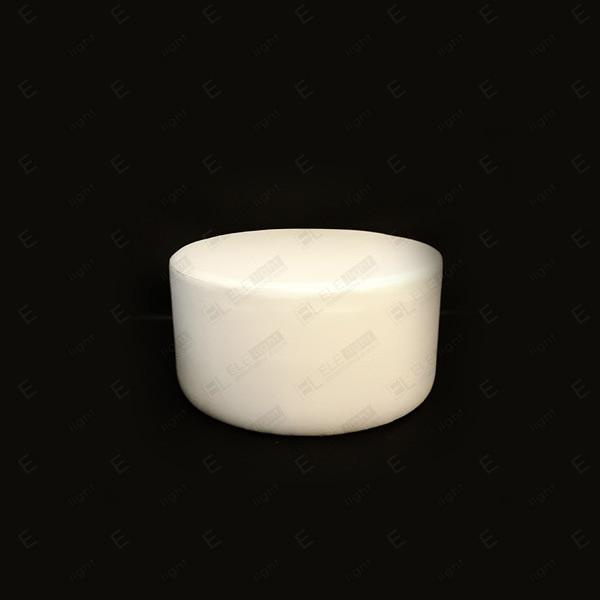 Pouf HOUSTON tondo bianco