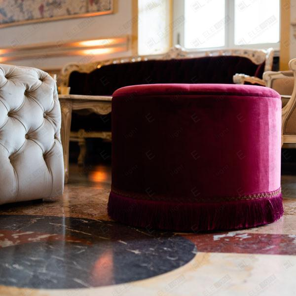 POUF VIENNA BIG BORDEAUX