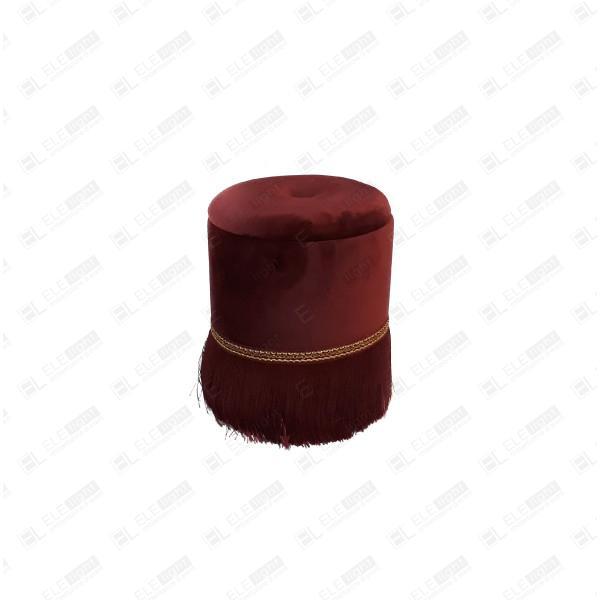 POUF VIENNA SMALL BORDEAUX cm30 h35